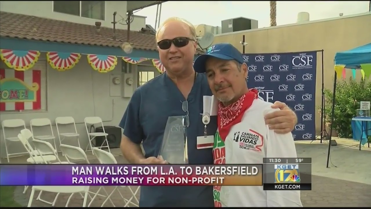 Man walks from Los Angeles to Bakersfield to raise money for CSF Foundation