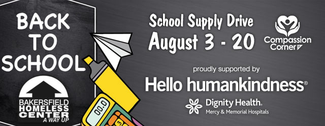 Back to School Supply Drive - August 3-20