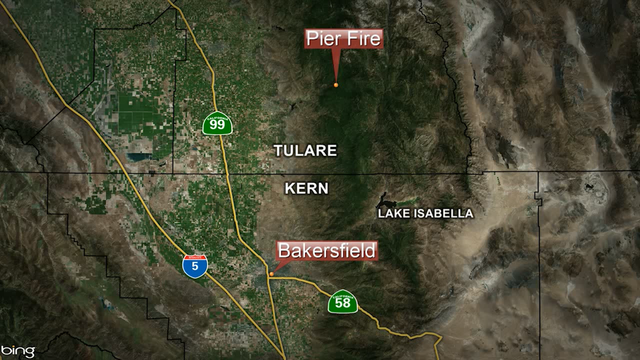 Pier Fire continues to burn in Tulare County
