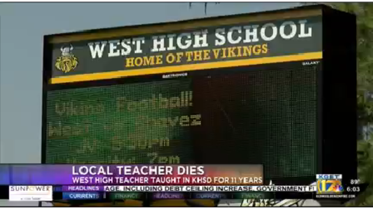 West High School Teacher Died Thursday