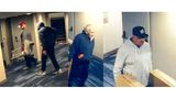 Police searching for 3 men suspected of hotel storage room burglary