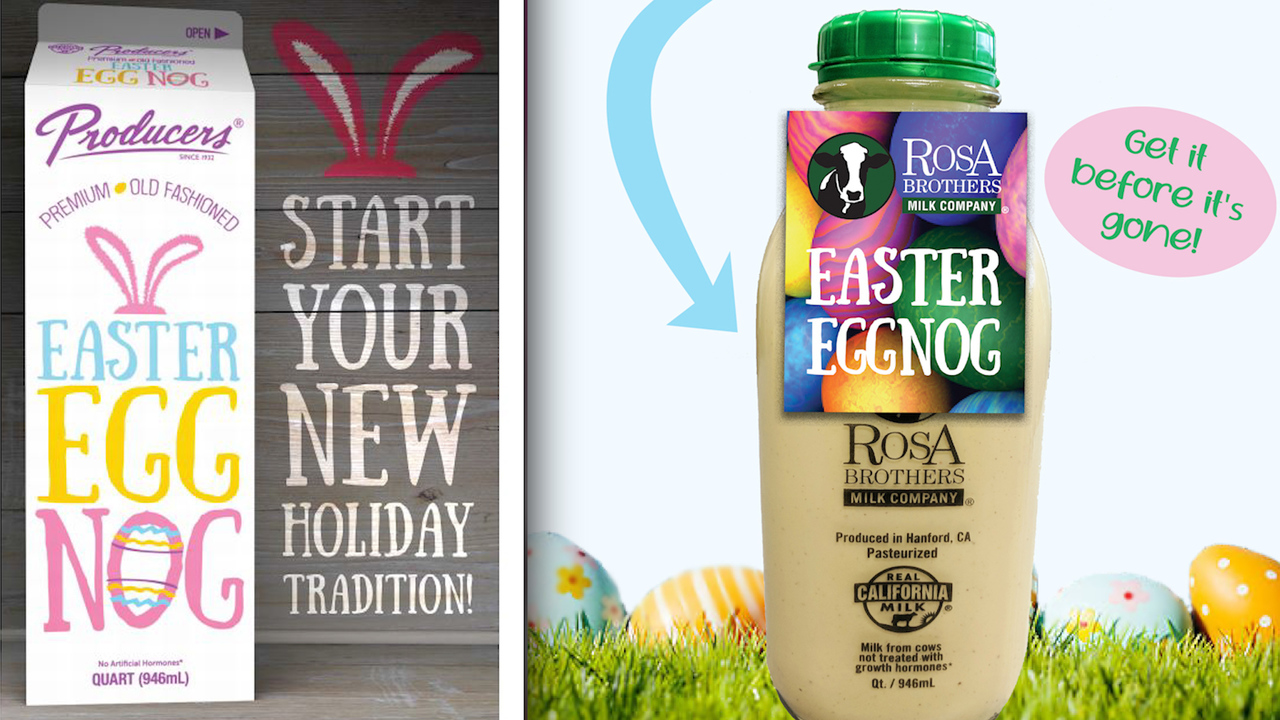 Dairy farms announces return of Easter eggnog
